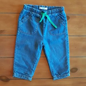 Mini Boden soft denim Jean's 6-12 months EUC